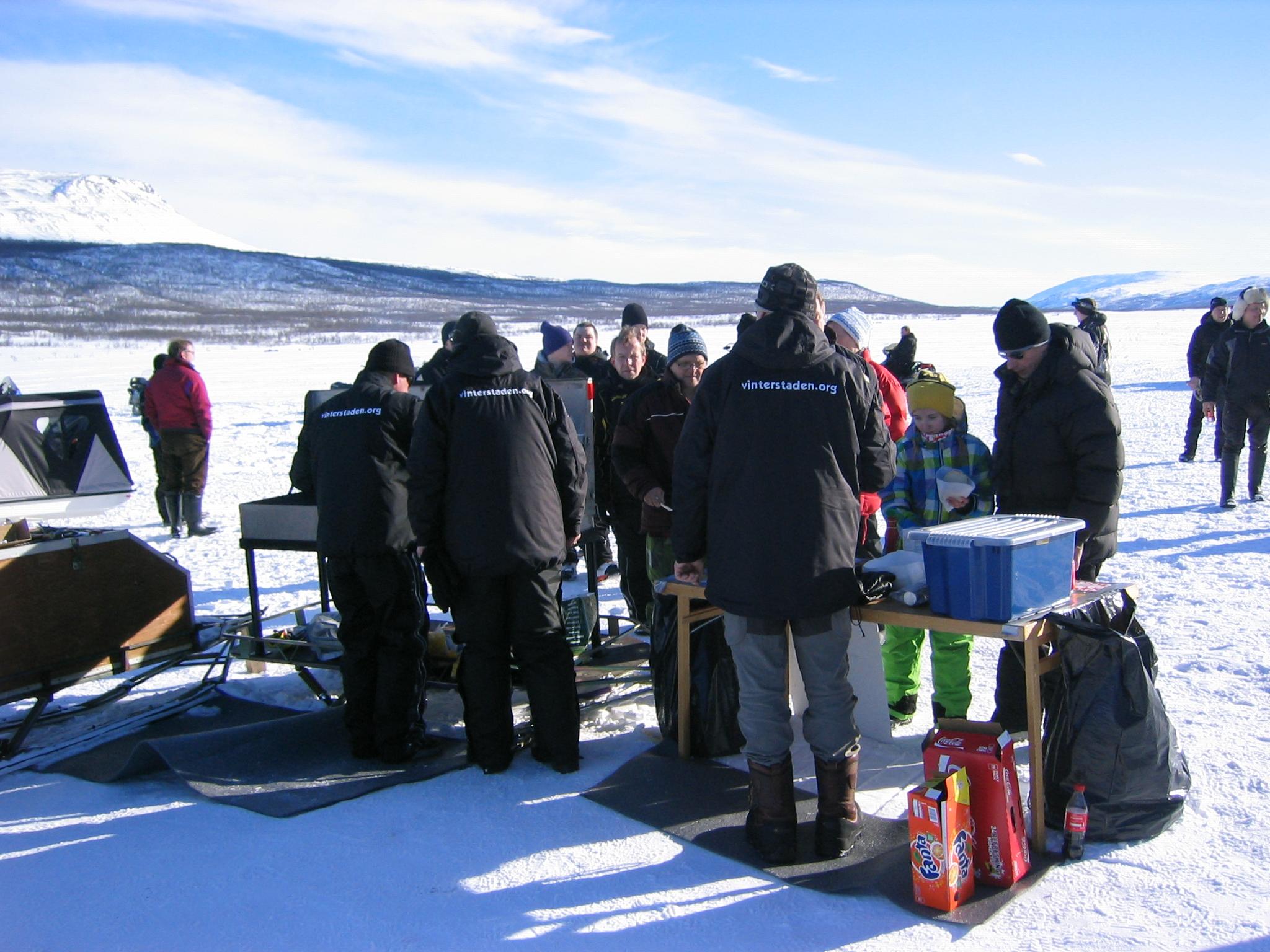 Rautas Ice Café när vädret är perfekt 2011